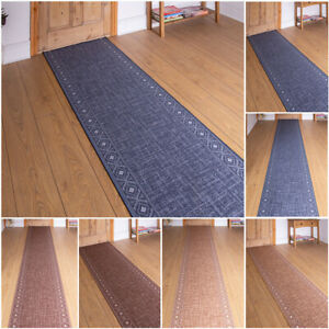 EXTRA-LONG-BLUE-BROWN-BEIGE-BLACK-GREY-FLOOR-HALL-HALLWAY-RUNNER-RUG-CARPET-MAT