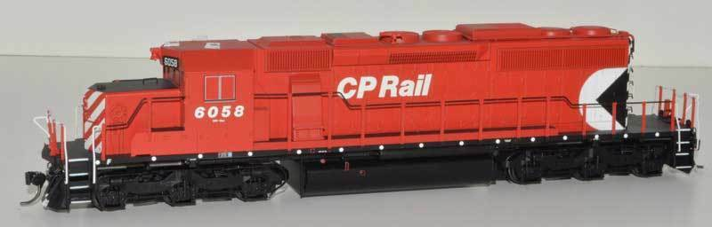 Bowser SD40-2 with DCC and sound Canadian Pacific CP small Multimark B unit 6058