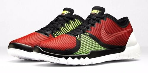 1 of 1 - NIKE FREE TRAINER 3.0 V4 MEN'S BLACK/RED/VOLT TRAINING