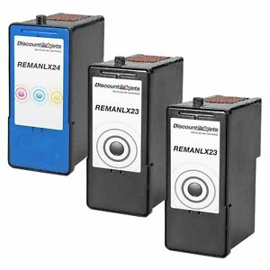 3-Lexmark-23-24-Blk-amp-Color-Printer-Ink-Cartridge-for-Lexmark-X3530-X3550-X4530