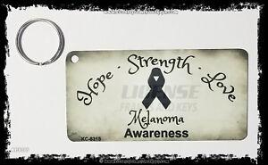 Melanoma Strength Keychain