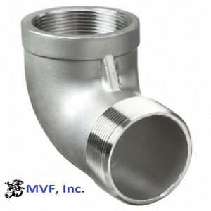 "1/2"" 150 Threaded (NPT) 90° Street Elbow 304 Stainless Steel <SS100441304"