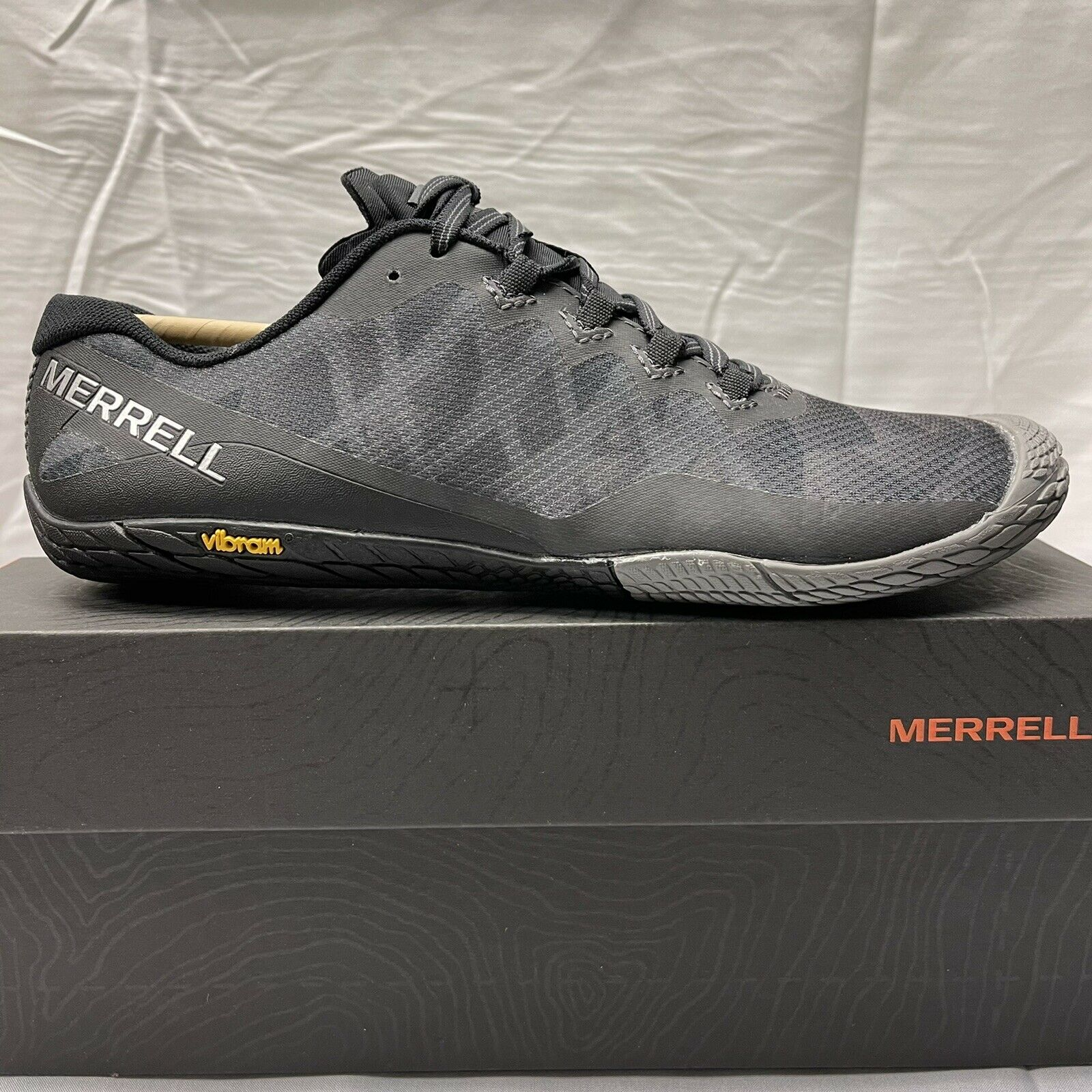 Merrell Vapor Glove 3 J12674 Pieds Nus Chaussures De Course Noir Femme Taille 10