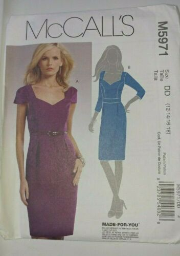Dress Sewing Patterns Simplicity Vogue McCall's Butterick Sizes 6-24 Pre-owned