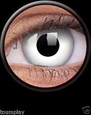 ONE DAY lentille de couleur blanche WHITE WITCH lens fantaisie contact halloween