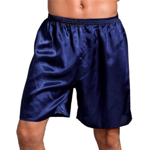 Men/'s Sleepwear Satin Silk Underwear Shorts Pants Pyjamas Nightwear Solid Boxers