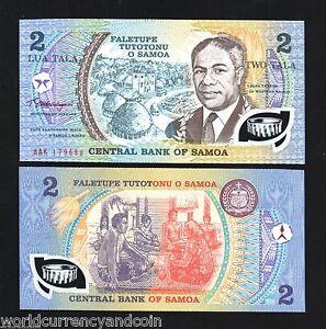 POLYMER P 31e P31e Banknote Note - 2 Tala 1990 Western SAMOA UNC