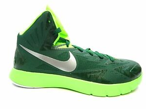 Image is loading NIKE-LUNAR-HYPERQUICKNESS-TB-652775-303-GREEN-SILVER-