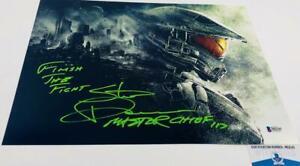 Steve-Downes-signed-Master-Chief-11X14-Metallic-photo-HALO-BAS-M62145