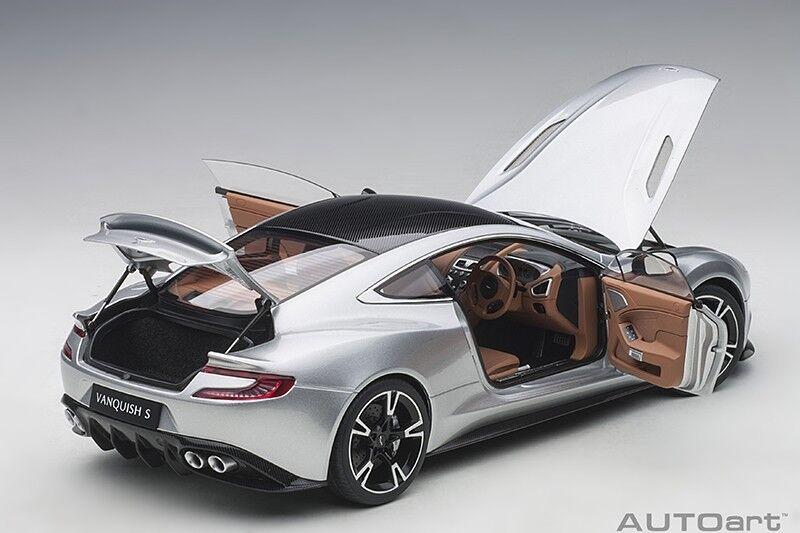 Autoart Aston Martin Vanquish S 2017 Lightning Argent 1 18 Échelle Neuf   en