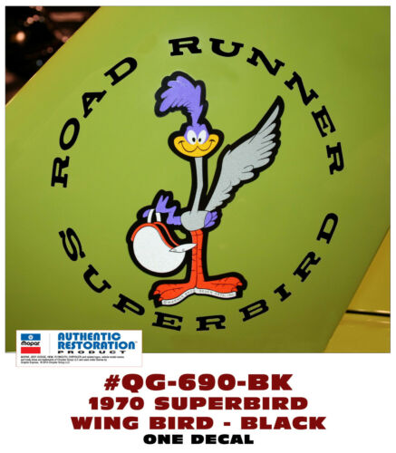 SUPERBIRD WING DECAL CHOOSE COLOR QG-685 QG-690 1970 PLYMOUTH ROAD RUNNER
