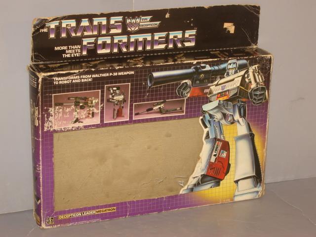 G1 Transformer Decepticon Megatron Caja Vacía Lote Nº 1  raros