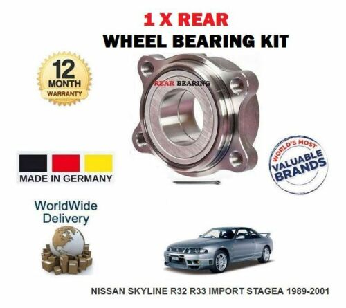 FOR NISSAN SKYLINE R32 R33  IMPORT STAGEA 1989-2001 NEW 1 REAR WHEEL BEARING KIT