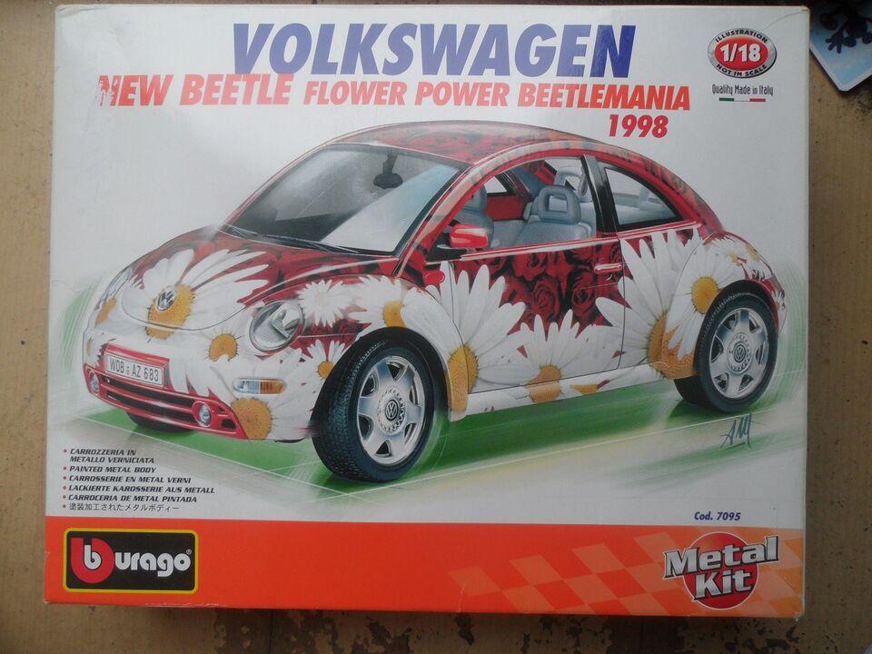 Modelbil Volkswagen Beetle Folkevogn, skala 1:18