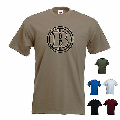 """""""bitcoin"""" Logo.p2p Moneta Digitale / Miniera / Satoshi / Blocco / Hash T-shirt Da Uomo-mostra Il Titolo Originale"""