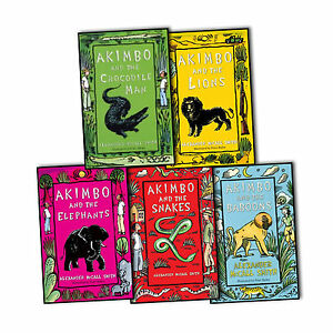 Alexander-McCall-Smith-Collection-Akimbo-5-Books-the-Baboons-Crocodile-Man-NEW