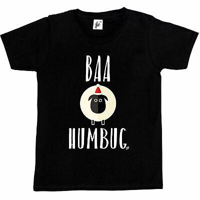 1Tee Kids Girls Baa Humbug Sheep Christmas T-Shirt
