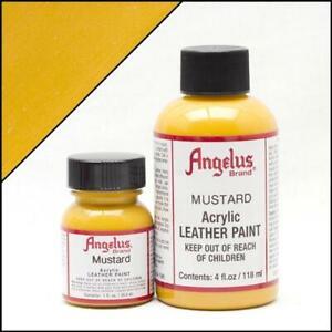 Angelus Senf/Mustard Acryl Lederfarbe 29,5ml (20,17€/100ml) färben Schuhfarbe