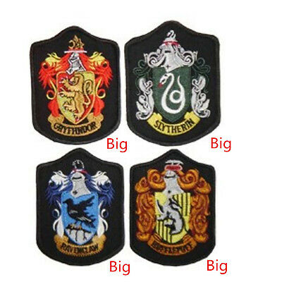Harry Potter Embroidery Patches Crest Iron Badge Griffindor/Slytherin/Ravenclaw