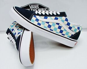9c288d4b510357 VANS OLD SKOOL (CHECKERBOARD) BLUE TOPAZ VN-0A38G1QCM MEN S SIZE  12 ...