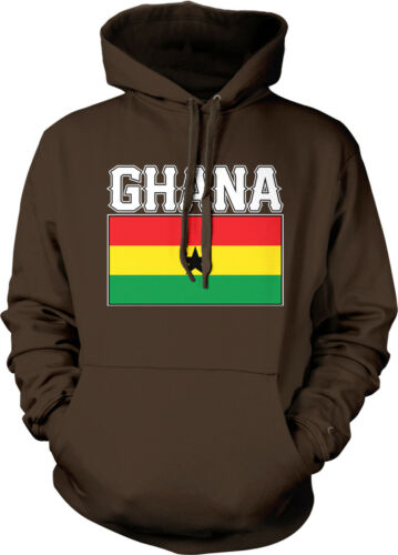 Ghana Flag Colors Font Ghanaian Country Soccer GHA GH From Am Hoodie Sweatshirt