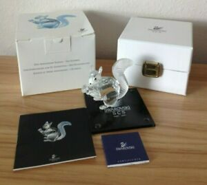 1997-COLLECTIBLE-SWAROVSKI-10TH-ANNIVERSARY-EDITION-SCS-THE-SQUIRREL-W-BOX-COA