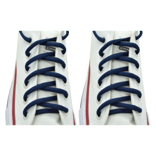 "2 Pairs Oval 36/"",45/"" Athletic Sports Sneaker /""Navy Blue/"" Shoelace Strings"