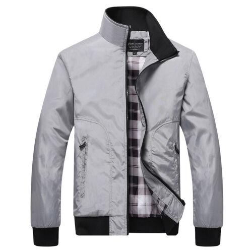 Men/'s Casual Long Sleeve Jacket Coats Warm Outwear Zipper Stretch Fashion Coats