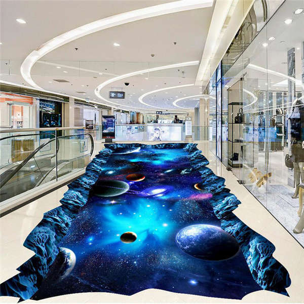 Galaxy Universe Painting 3D Floor Mural Photo Flooring Wallpaper Home Wall Decal