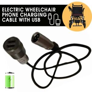 New 150mm Electric Wheelchair Usb Phone Charger Cable Dual Output Length Ebay