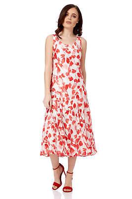 Women Roman Originals Floral Print Biased Cut Midi Dress