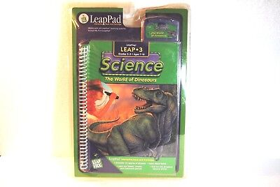 Leap 3 Science LeapPad The World of Dinosaurs Interactive Book and Cartridge LeapFrog Toys 708431300682