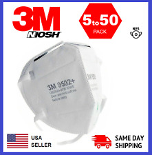 3m 9502 N95 Niosh Protective Disposable Face Mask Cover Respirator 52550 Pack