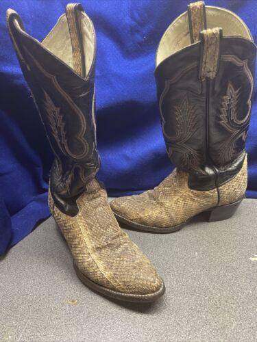 snakeskin boots 8.5 Men