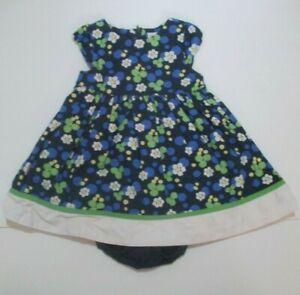TODDLER-GIRLS-GYMBOREE-BLUE-ISLAND-FLORAL-DRESS-SET-SIZE-18-24-MONTHS-2