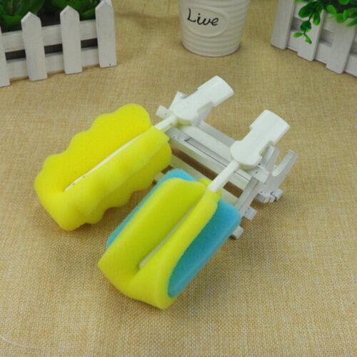4pcs//set Sponge Baby Bottle Clean Brush Sponge Cleaner Brush Pacifier Brush S ZF