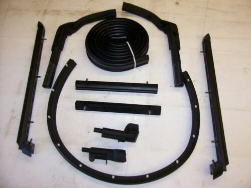 10 PC + 63-67 CORVETTE CONVERTIBLE SOFT TOP WEATHERSTRIP KIT MADE IN USA