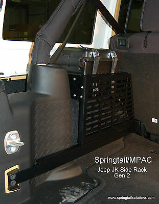 Jeep JK Unlimited Wrangler Driver Side Storage MOLLE Rack NO DRILLING Required