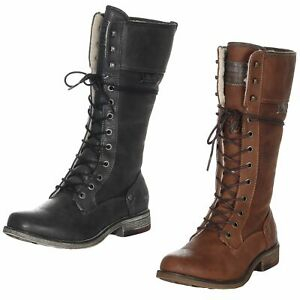 newest collection 27acd 13b7f Details zu Mustang Damen Stiefel Damenstiefel Winterstiefel Schuhe  Winterschuhe 1295-606