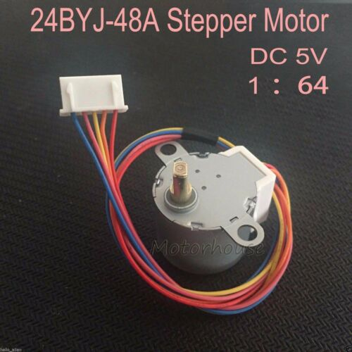 24BYJ48 4 Phase 5 Wire Gear Stepper Motor 5V 12V Micro Reduction Stepping Motor
