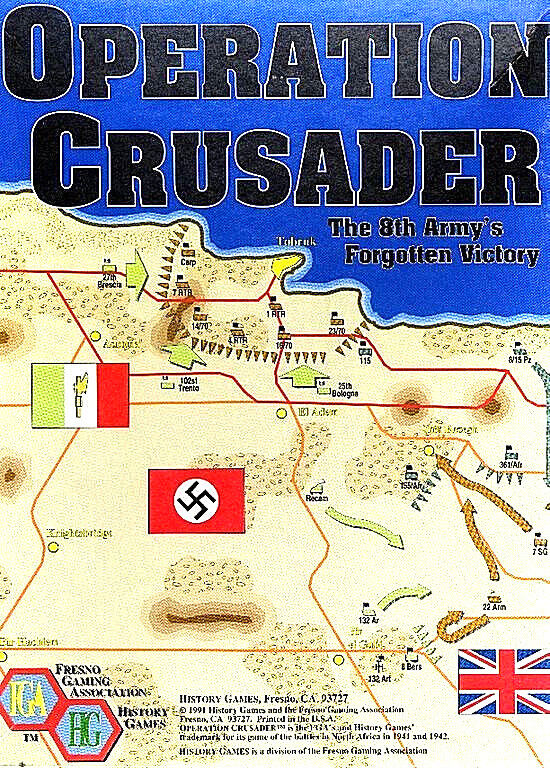 Fresno Gaming Wargame OPERATION CRUSADER Boxed Edition (1991) FGA 9102-B      b6