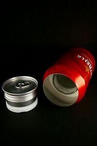 Bote camuflaje-Lata ocultacion-Safe stash Cocacola 33cl con LÍQUIDO sonido real