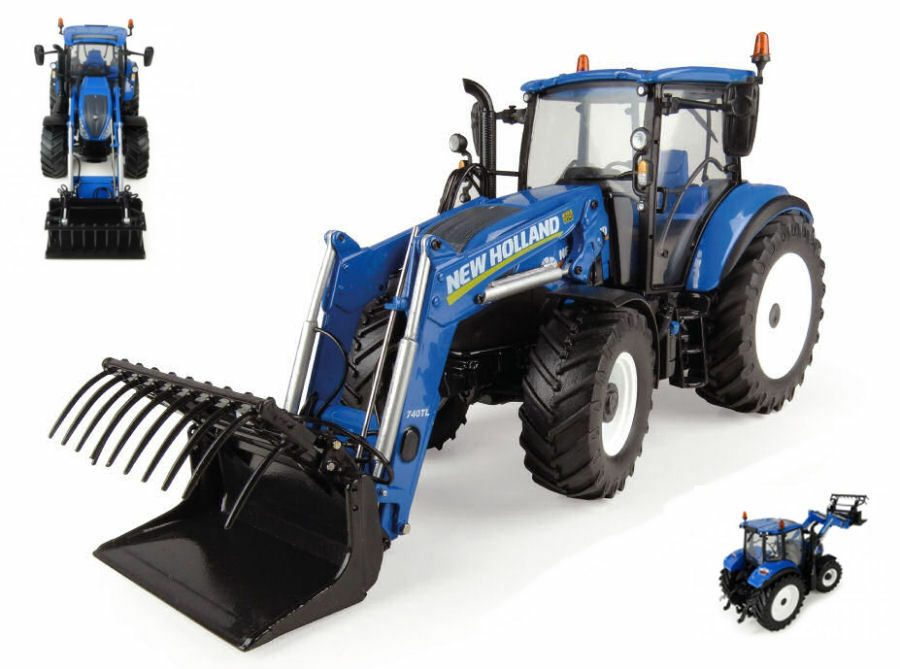 New holland t5.120 with front loader tractor 1 32 model 4958 universal hobbies