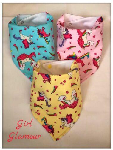 Bundle Dribble Bibs Bib Unicorn Fabric Burp Baby Nappy Rainbow Dress