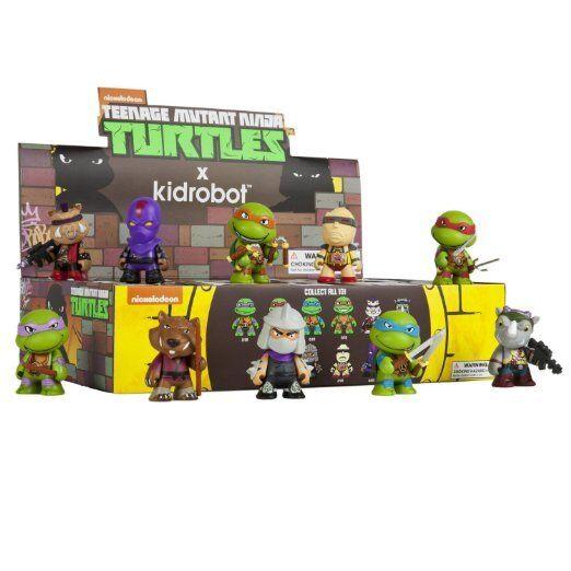 Teenage Mutant Ninja Turtles - 3  Caja ciego Vinilo Mini Figuras Pantalla (20ct)