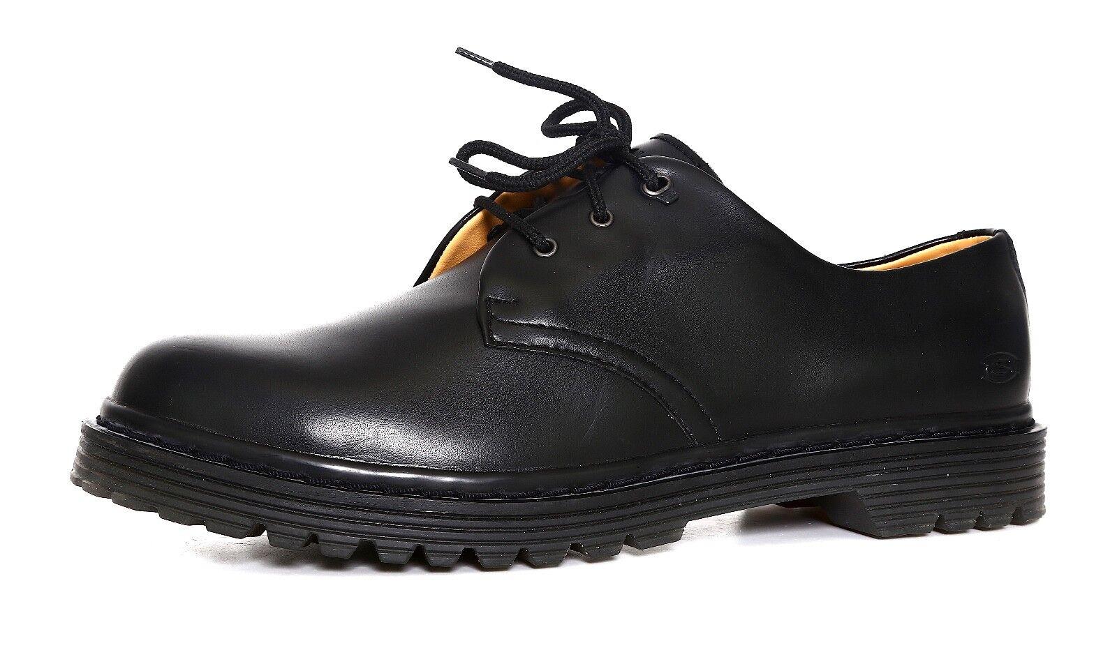 Skechers sentir la comodidad con cordones Oxford Negro Hombre
