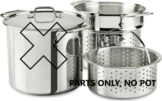 3-Piece with Lid Al-clad Stainless Steel 12-Quart Multi Cooker Cookware Set