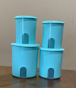 new tupperware one touch reminder window canister set of