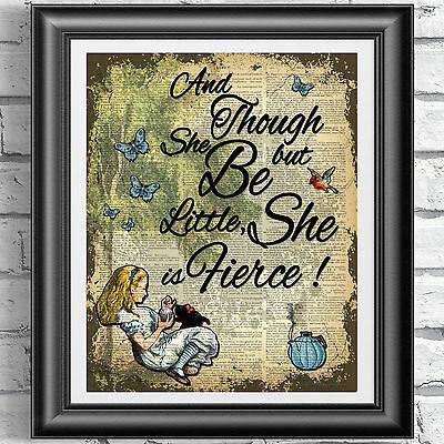 Cheshire Cat Alice au pays des merveilles Home Decor tentures murales Imprimer Dictionnaire