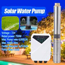 Dc Solar Water Pump 72v 1hp Submersible Mppt Controller Deep Bore Well Mppt 4